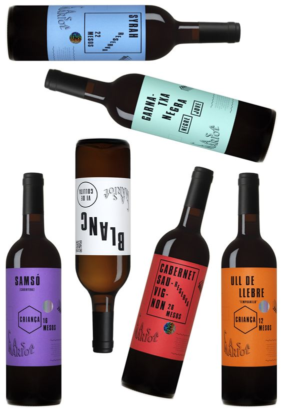 Casa Mariol wine collection #wine #bottle #package #design #packaging