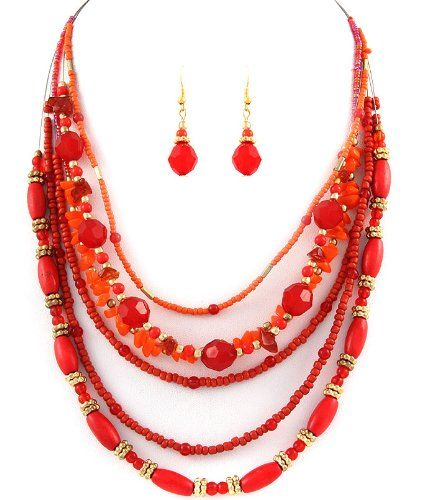 Mighty Gadget - NECKLACE AND EARRING SET (Color Choices: Coral - 16 inch long) - Random Color Selection Subject to Stock on Hand Mighty Gadget http://www.amazon.com/dp/B00IR1HCP0/ref=cm_sw_r_pi_dp_8veRtb1KTGPR1201