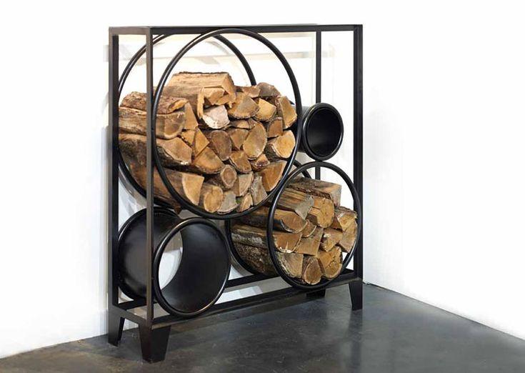 17 meilleures id es propos de porte de bois de chauffage for Stockage bois interieur