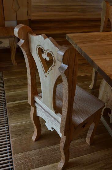 Meble Góralskie rzeźbione z drewna