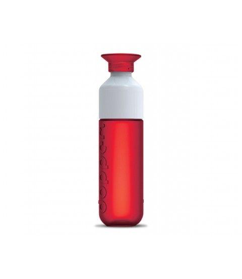 DOPPER Trinkflasche Rot Wasserflasche Flasche Outdoor Kinder Sport Schule  - 2-flowerpower