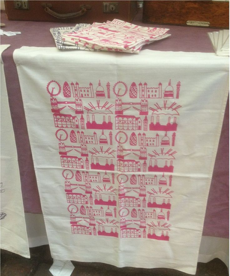 Tea towel by 'Clementine & Bloom'. You can find the stall in the Market every Fri-Sat. Great present!