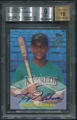 2000 Topps Traded Baseball #TTA40 Miguel Cabrera Rookie Auto BGS 9 (MINT)