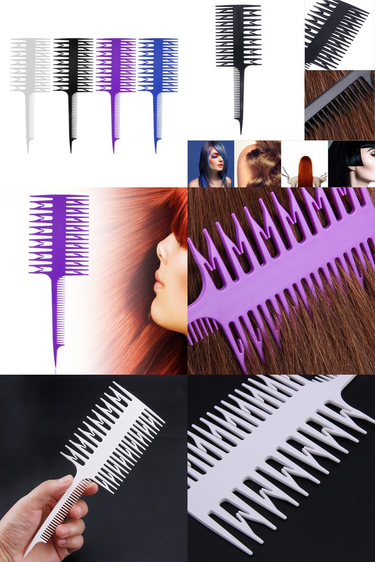 [Visit to Buy] Hair Salon Professional Hair Dyeing Comb 3 Way Hairdressing Styling Hair Coloring Depart Piece Dyeing Comb Brush Tool #Advertisement