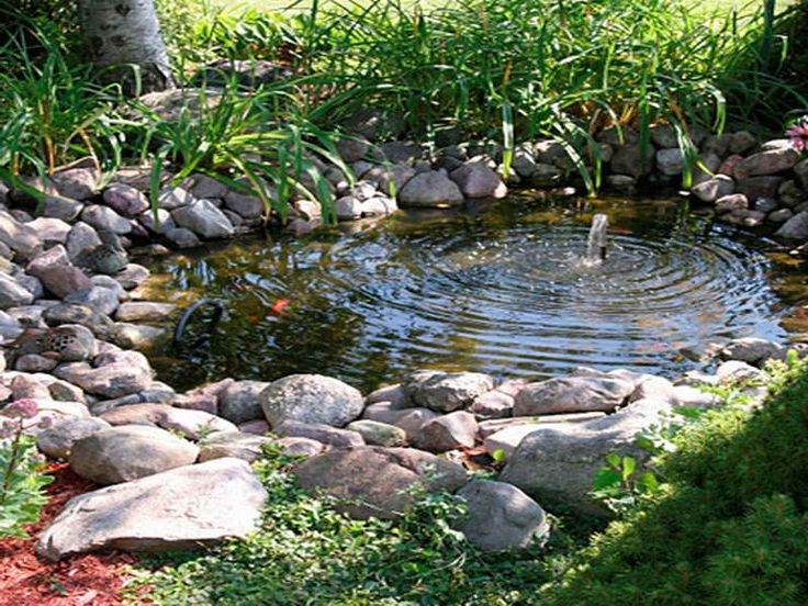 Backyard water feature fountain powered water fountain for Small pond fountains