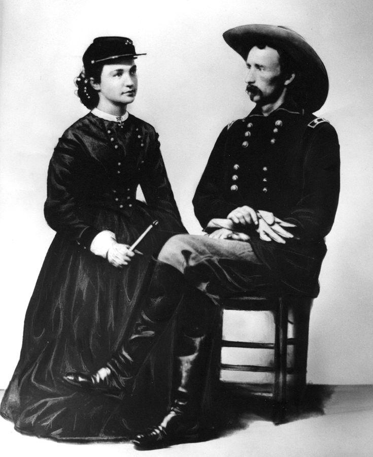 Elizabeth and George Custer, 1865