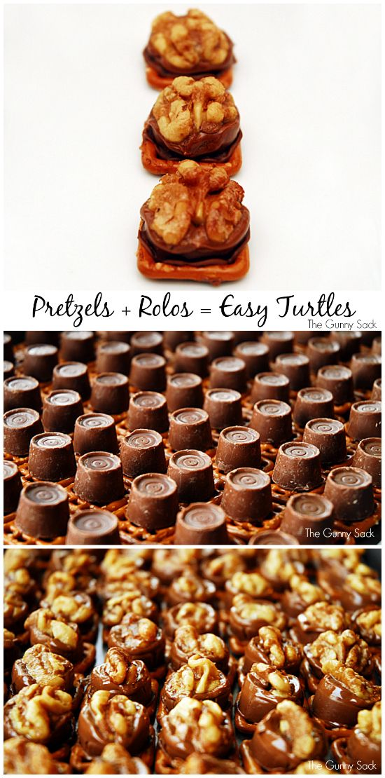 Pretzel Turtles are so easy to make! They could be used for Christmas cookies or given as gifts in a jar!
