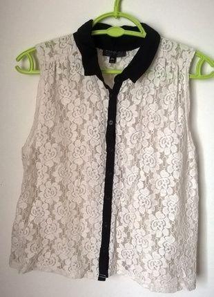 Kup mój przedmiot na #vintedpl http://www.vinted.pl/damska-odziez/bluzki-bez-rekawow/11417060-koronkowa-koszulka-top-shop-rozmiar-s