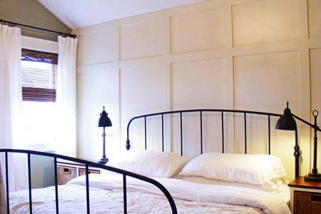 Faux paneled walls