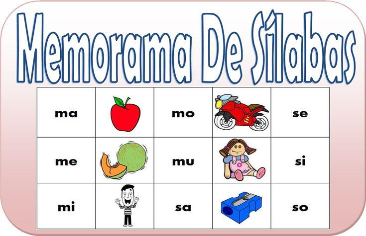 Compartimos este fabuloso juego de memorama de sílabas para primer grado de primaria, esperando que este excelente material les pueda