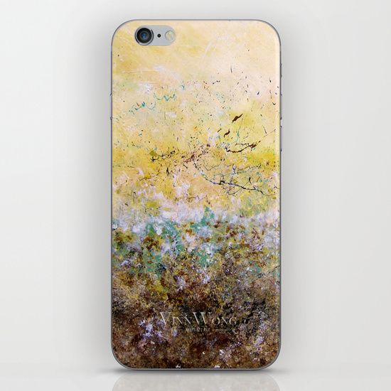 Forest and sunset inspired green and yellow abstract iPhone and iPod Skins by Vinn Wong | Full collection vinnwong.com | Visit the shop or Pin it For Later!