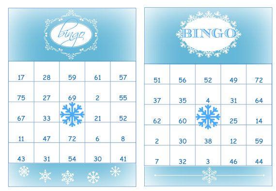 40 Printable Birthday Bingo Cards Prefilled with numbers especially for the Frozen Birthday Theme by 2RabbitsPrintEnjoy #frozenbirthdaytheme #bingocards