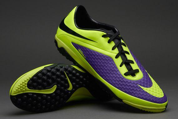Nike Football Boots - Nike HyperVenom Phelon Turf - Astro Turf - Soccer Cleats - Electro Purple-Volt Size US 11