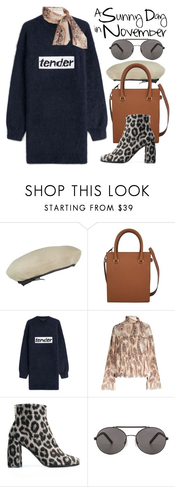 """""""A Sunny Day in November"""" by ivansyd ❤ liked on Polyvore featuring kangol, Alexander Wang, See by Chloé, STELLA McCARTNEY, Seafolly, sweaterdress and animalprintshoes"""