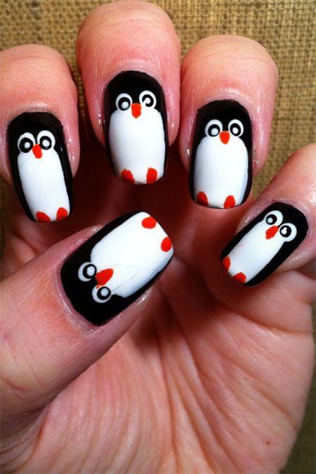 Penguin Nail Art Designs Ideas 2013 2014 10 Easy & Cute Penguin Nail ...