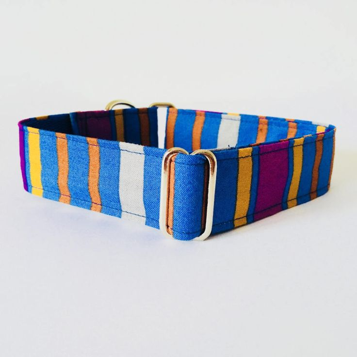 Collar perro Fantasia Rayas Azul, Collar Martingale, Collar Galgo, Collares para perro originales, Correa perro - 4GUAUS.COM de 4GUAUS en Etsy