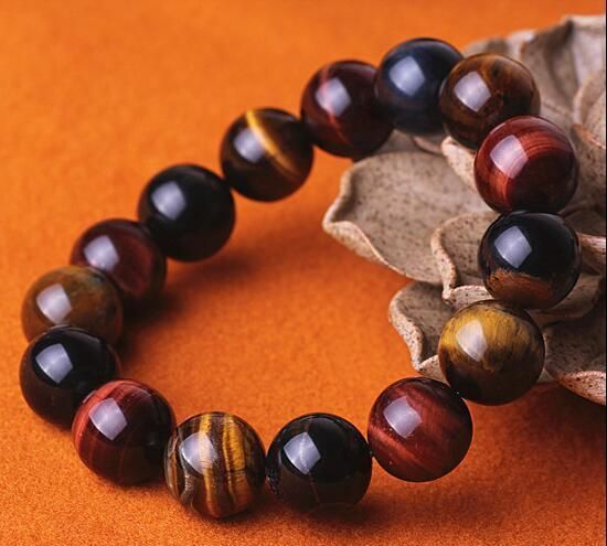 Natural Red Tiger's Eye Gemstone Round Beads Power Bracelet 12Mm Aaaa Best Gift