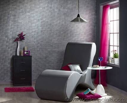 Grey Combing Wall Asian Paints Royale