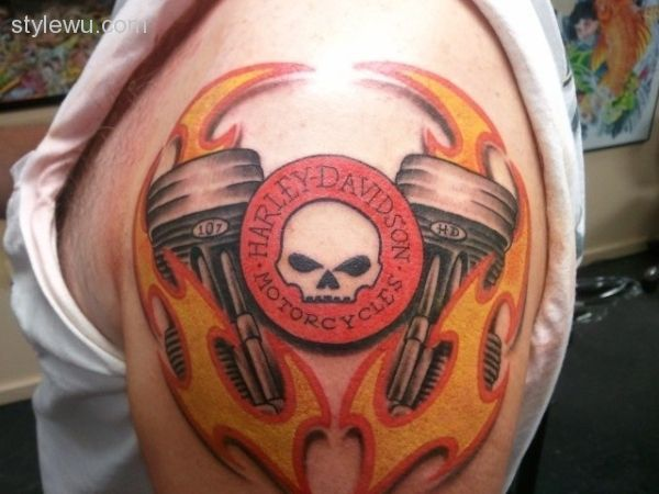 awesome 35 Groovy Harley Davidson Tattoos