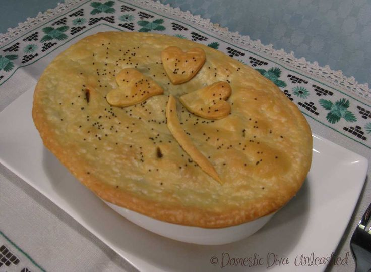 Domestic Diva: Steak & Whiskey Pot Pie. Perfect for St Patrick's day!
