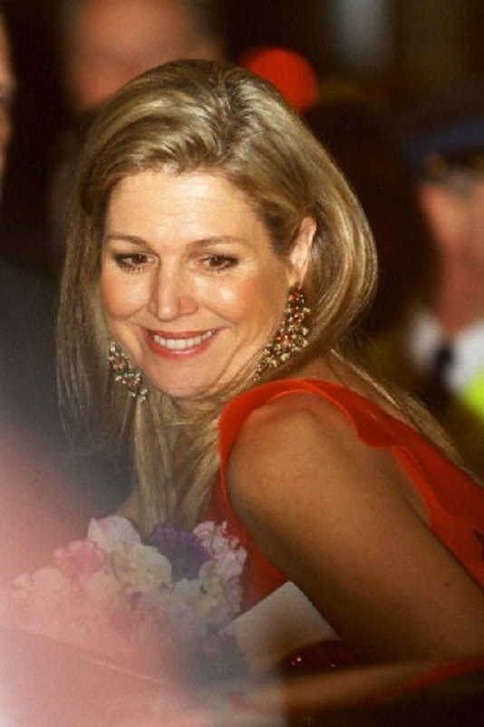 Dutch Crown Princess Maxima arrives for the 125-year jubilee of the Concertgebouw concert hall on 10 April 2013