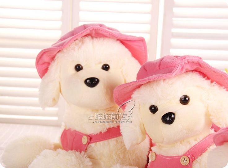 Прекрасный плюшевые игрушка-собачка пудель плюшевые игрушки розовый шляпа и юбка куклы подарок на день рождения около 50 см