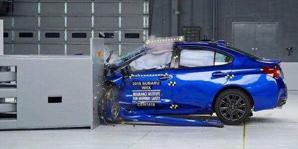 2015 Subaru WRX STI receives this first-ever rating from IIHS