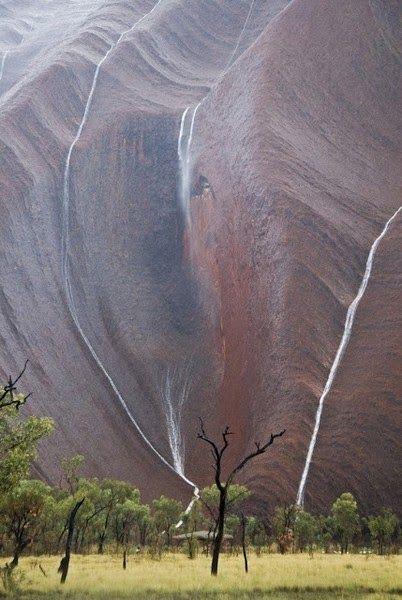 Waterfalls around the World - Uluru waterfalls, Australia