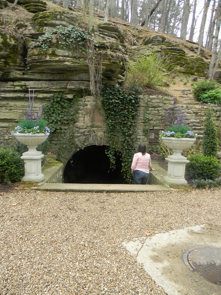 Eureka Springs Arkansas. When you go into theis grotto, there is a sudden sense of peace within. Someone has erected a small urn in which you can write down your hopes, dreams, wishes and add them to countless others. Thre is no way to leave there without feeling relflective, inspired and renewed.