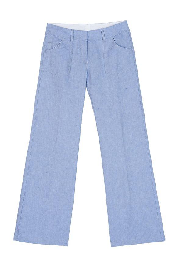 QL2 - PICASSO COTTON/LINEN OXFORD WIDE LEG PANT  (Panta rei) #women's #fashion
