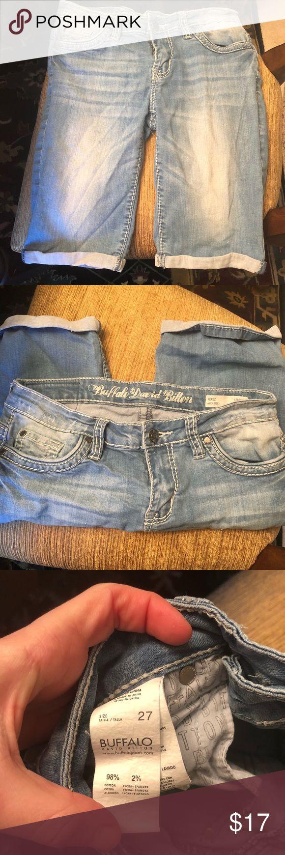 Buffalo jeans Bermuda shorts denim Size 27 gently used buffalo Bermuda shorts Buffalo Shorts Bermudas