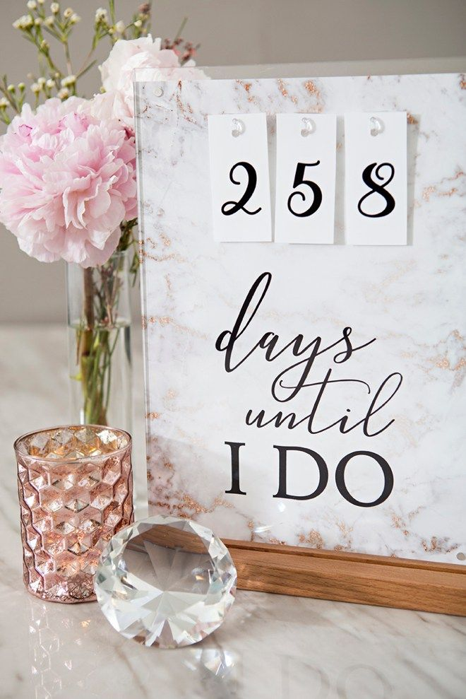 This Diy Wedding Countdown Sign Has Free Printable Files Wedding Countdown Countdown Sign Wedding Event Planning