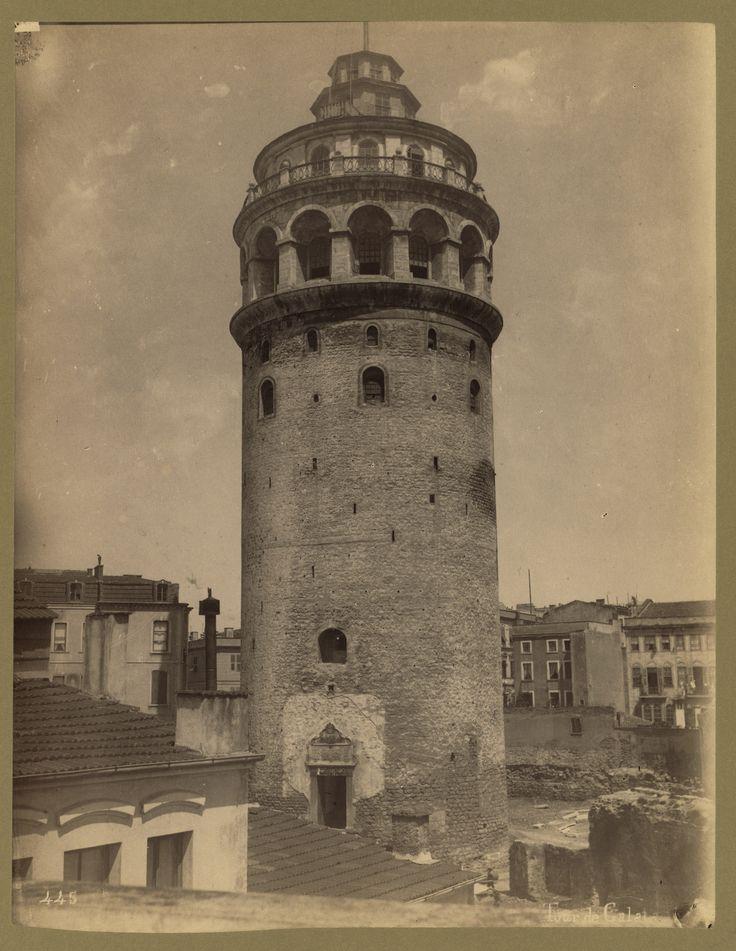 Galata Kulesi Abdullah Fréres fotoğrafı 1880-1900 LOC Arşivi