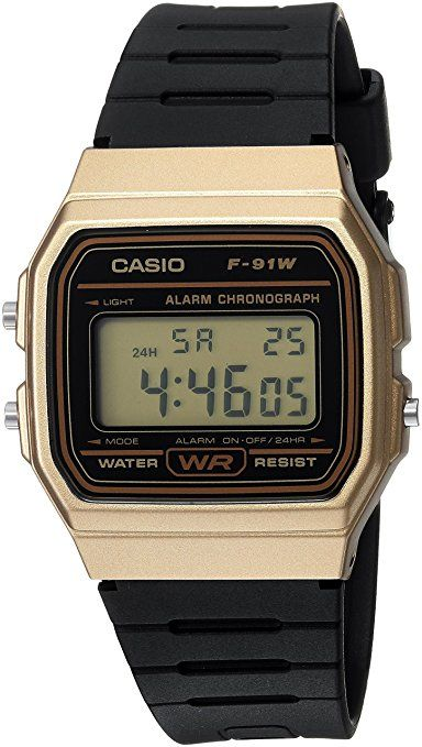 (CDN$ 17.50) Casio Men's 'Classic' Quartz Metal and Resin Casual Watch, Color: Black (Model: F91WM-9A)