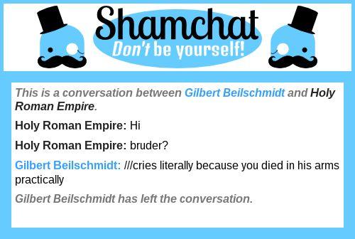 A conversation between Holy Roman Empire and Gilbert Beilschmidt