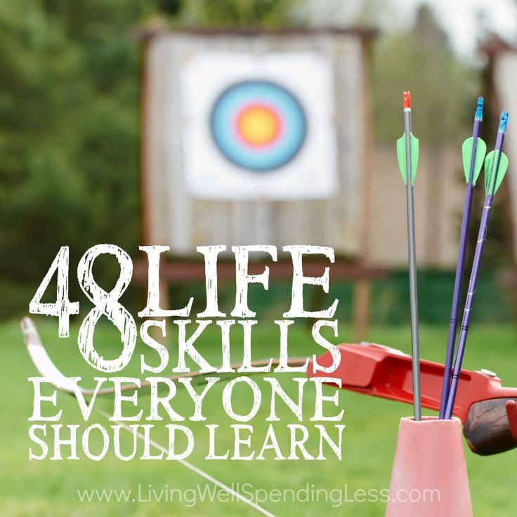 48 Life Skills Everyone Should Learn -  Great List from LWSL