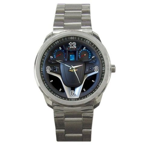 Chevrolet Orlando MPV 10 Steering Wheel Sport Metal Watch | Dalmanaz - Jewelry on ArtFire