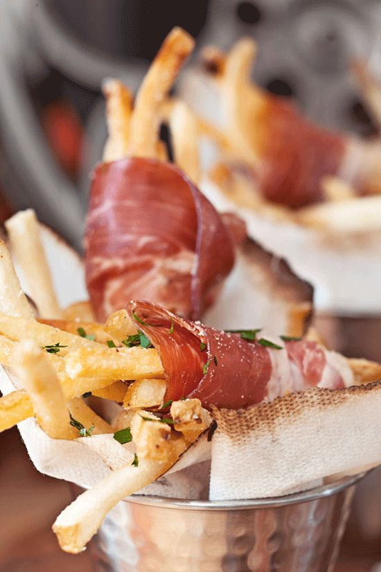 Prosciutto-Wrapped Truffle Fries