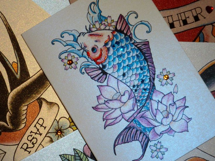 Colorful Koi Tattoo | Tattoo Ideas and Designs Gallery Blog