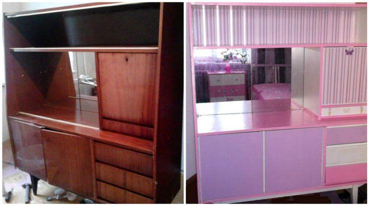 Делаете комнату для девочки в розовом цвете? Бабушкин сервант как раз кстати!
