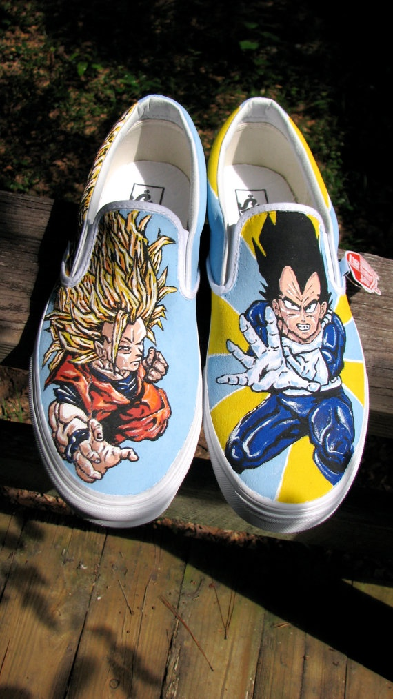 Anime Shoes Dragonball Z by Ink12Studios on Etsy, $120.00
