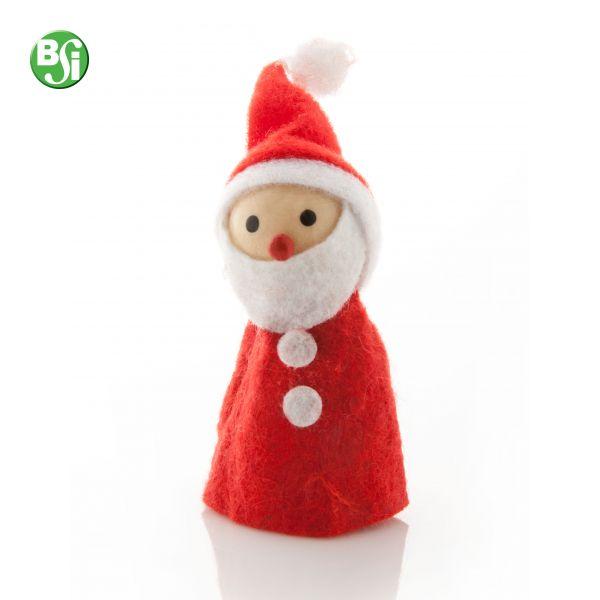 Figura di Natale in legno e poliestere a forma di babbo natale.  #bsigadget #natale #gift #gadgetpersonalizzato #pupazzo #babbonatale #christmas #gadget