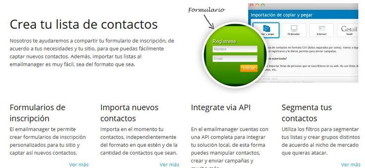 El emailmanager te permite crear formularios de inscripción personalizados para tu sitio y captar así nuevos contactos.