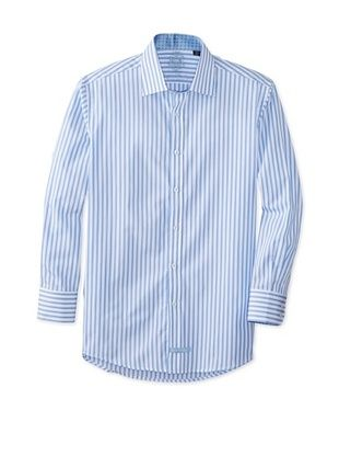 60% OFF English Laundry Men's Stripe Dress Shirt (Blue)