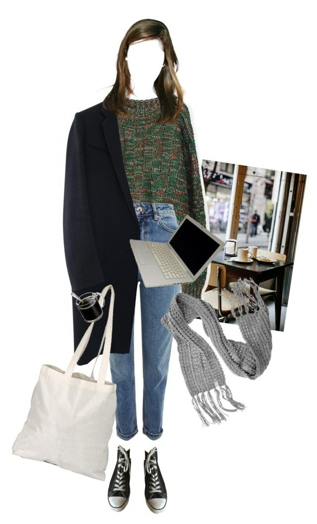 """""""Literature student"""" by ohyou liked on Polyvore featuring Topshop, Lalù and Converse 