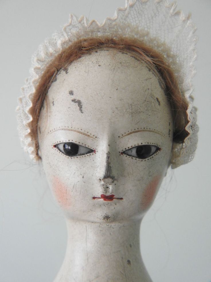 "2014 Kathy Patterson Queen Anne type Wooden Doll ""Cassandra"" used in ROOTs movie"