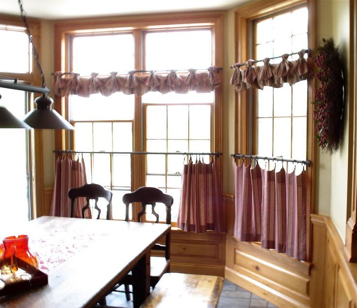 ... Valance W/ Burlap Ties And