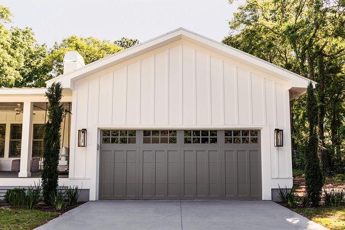 Clopay Coachman Collection Garage Door With Gray Color Blast In 2020 Garage Door Styles Garage Door Colors Garage Door Design