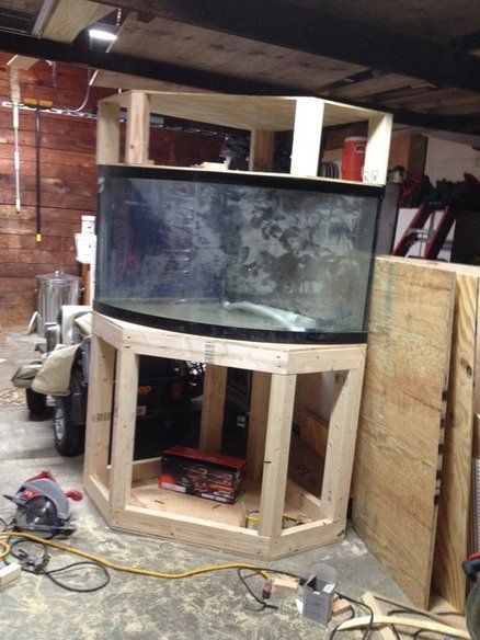 92 Gallon Corner Aquarium Stand and Canopy- for the tank we have