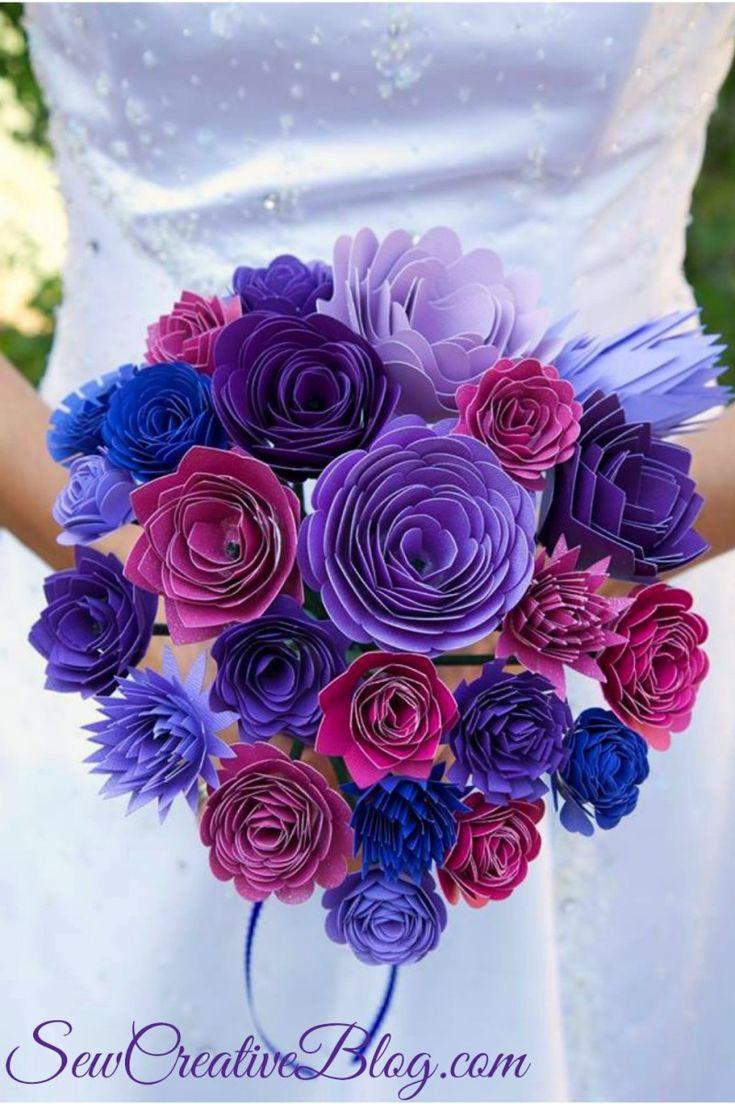 Wedding scrapbook ideas using cricut - Diy Paper Wedding Bouquet Made With Cricut Explore Sew Creative Blog Designspacestar
